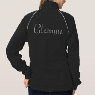 Glamma bling zip-front jacket