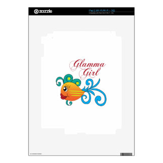 GLAMMA GIRL FISH DECALS FOR THE iPad 2