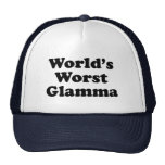 Glamma peor del mundo gorros bordados