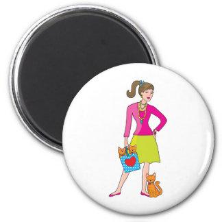 Glamor Girl Fridge Magnets