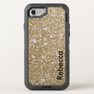 Glamor golden Glitz Bokeh lights gold glitter OtterBox Defender iPhone 8/7 Case