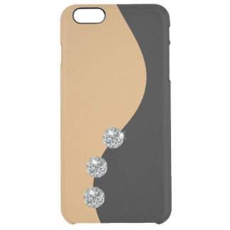 Glamoroso moderno liso funda clear para iPhone 6 plus