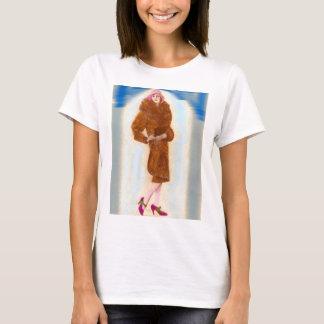 glamorous 1920s woman in fur coat T-Shirt