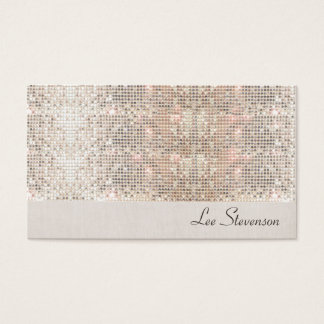 Glamorous and Glitzy Trendy FAUX Sparkly Sequins Business Card