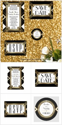 Glamorous Art Deco Wedding