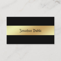 Glamorous Black And Gold Elegant Professional Business Card