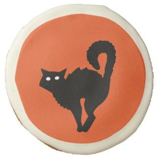 Glamorous Black Cat Orange Cookie
