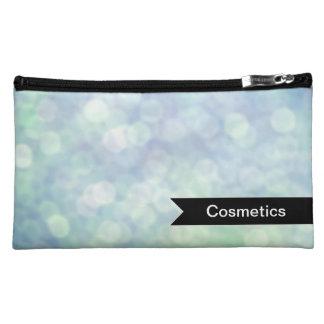 Glamorous Blue bokeh makeup bag
