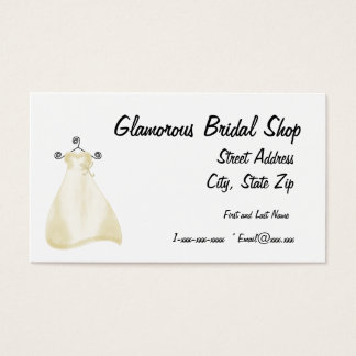 Glamorous Bridal Shop Business Card