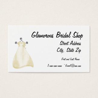 Dress shop business cards templates zazzle glamorous bridal shop business card reheart Images