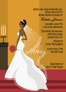 glamorous bride african american bridal shower inv invitation