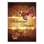"glamorous Butterfly  rehearsal Dinner invitation 5"" X 7"" Invitation Card"