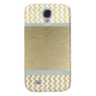 Glamorous chevron gold galaxy s4 case