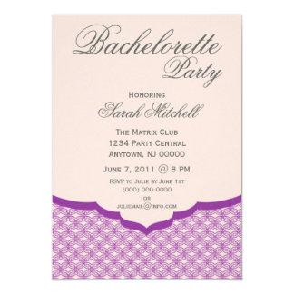 Glamorous Chic Bachelorette Party Invite, Purple