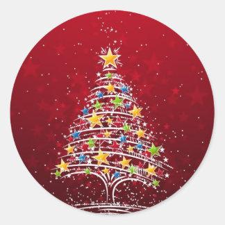 Glamorous Christmas Classic Round Sticker