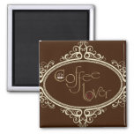 glamorous Coffee Lover 2 Inch Square Magnet