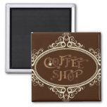 glamorous Coffee Shop Fridge Magnets