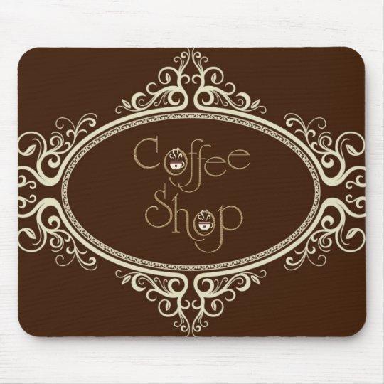 glamorous Coffee Shop Mouse Pad