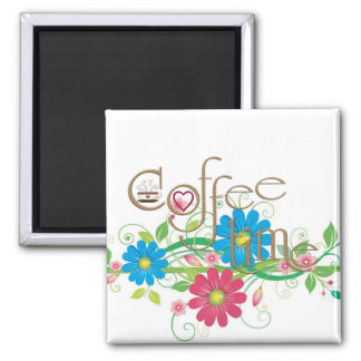 glamorous Coffee time 2 Inch Square Magnet