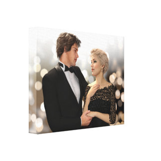 Glamorous Couple with Twinkling Bokeh Canvas Print