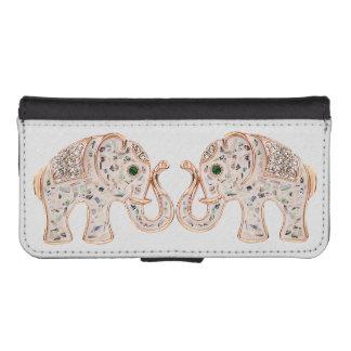Glamorous Diamond Elephants Images iPhone SE/5/5s Wallet