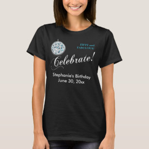 Glamorous Disco Ball 50th Birthday Party T Shirt