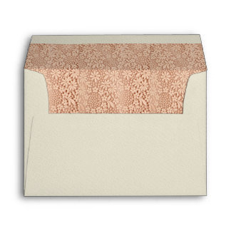 Glamorous Dusty Rose Lace Floral Pattern Lined Envelopes