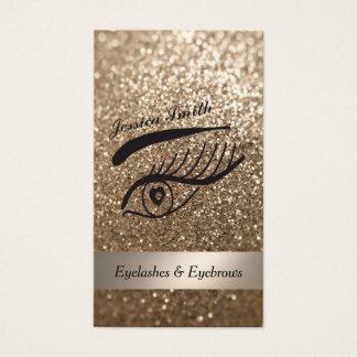 glamorous elegant glittery Eyelashes & eyebrow Business Card