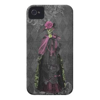 Glamorous Elegant Gothic Skeleton Lady iPhone 4 Case-Mate Case