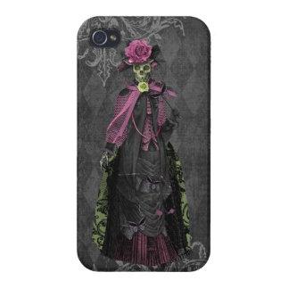 Glamorous Elegant Gothic Skeleton Lady iPhone 4/4S Case