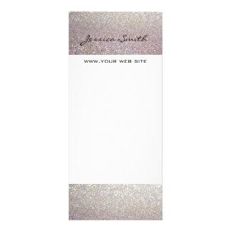 Glamorous elegant modern glittery rack card