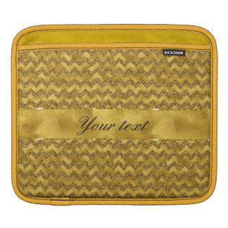 Glamorous Faux Gold Glitter Chevrons iPad Sleeve