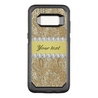 Glamorous Faux Gold Sequins and Diamonds OtterBox Commuter Samsung Galaxy S8 Case