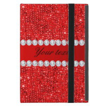 Glamorous Faux Red Sequins and Diamonds iPad Mini Case