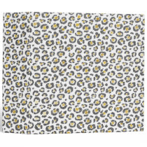 Glamorous Faux Sparkly Gold & Silver Leopard 3 Ring Binder