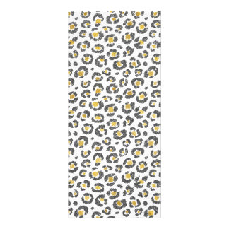 Glamorous Faux Sparkly Gold & Silver Leopard Rack Card