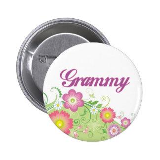Glamorous flowers Grammy Button