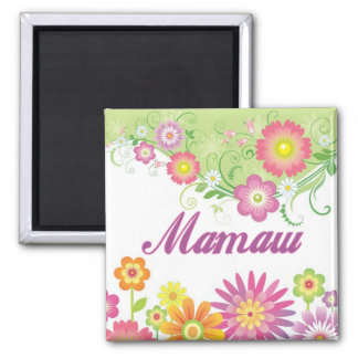 Glamorous flowers Mamaw 2 Inch Square Magnet