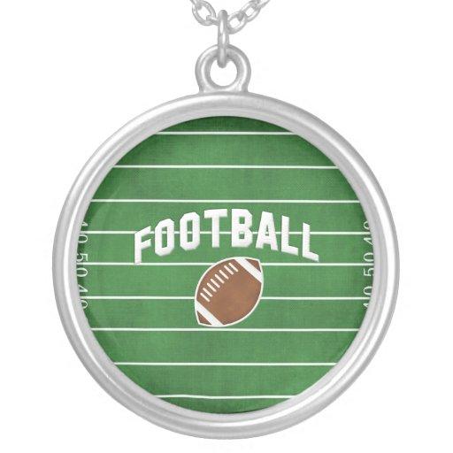 glamorous Football Necklaces