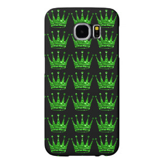 Glamorous Glittery Green Crown Samsung Phone Case Samsung Galaxy S6 Cases