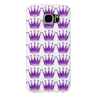 Glamorous Glittery Purple Crown Samsung Phone Case Samsung Galaxy S6 Cases