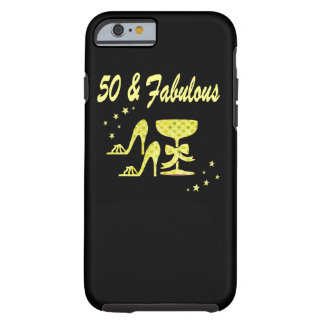 GLAMOROUS GOLD 50 AND FABULOUS BIRTHDAY TOUGH iPhone 6 CASE