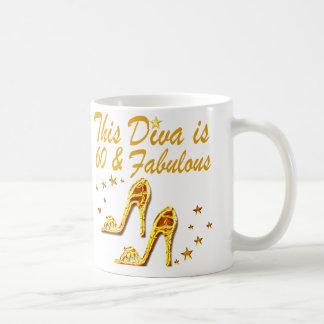 GLAMOROUS GOLD 60TH BIRTHDAY COFFEE MUG