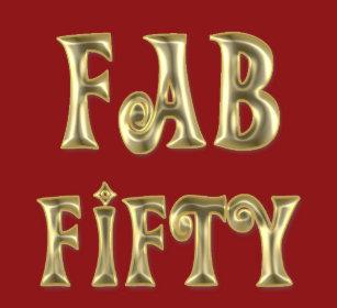 Glamorous Gold Fab Fifty T Shirt