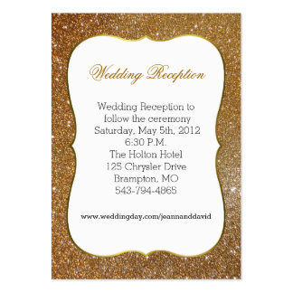 Glamorous Gold Glitter Look Wedding Enclosure Card Large Business Card