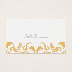 Glamorous Gold Guest Table Escort Cards at Zazzle