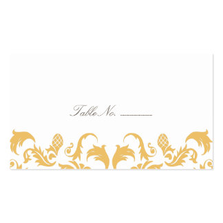 Glamorous Gold Guest Table Escort Cards Double-Sided Standard Business Cards (Pack Of 100)