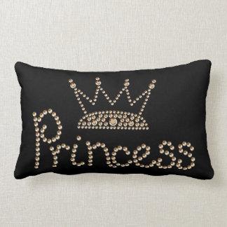 Glamorous Gold Princess Crown Lumbar Pillow