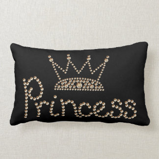 Glamorous Gold Princess Crown Pillow