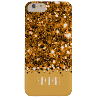 Glamorous Gold Sparkly Glitter Confetti Case Barely There iPhone 6 Plus Case